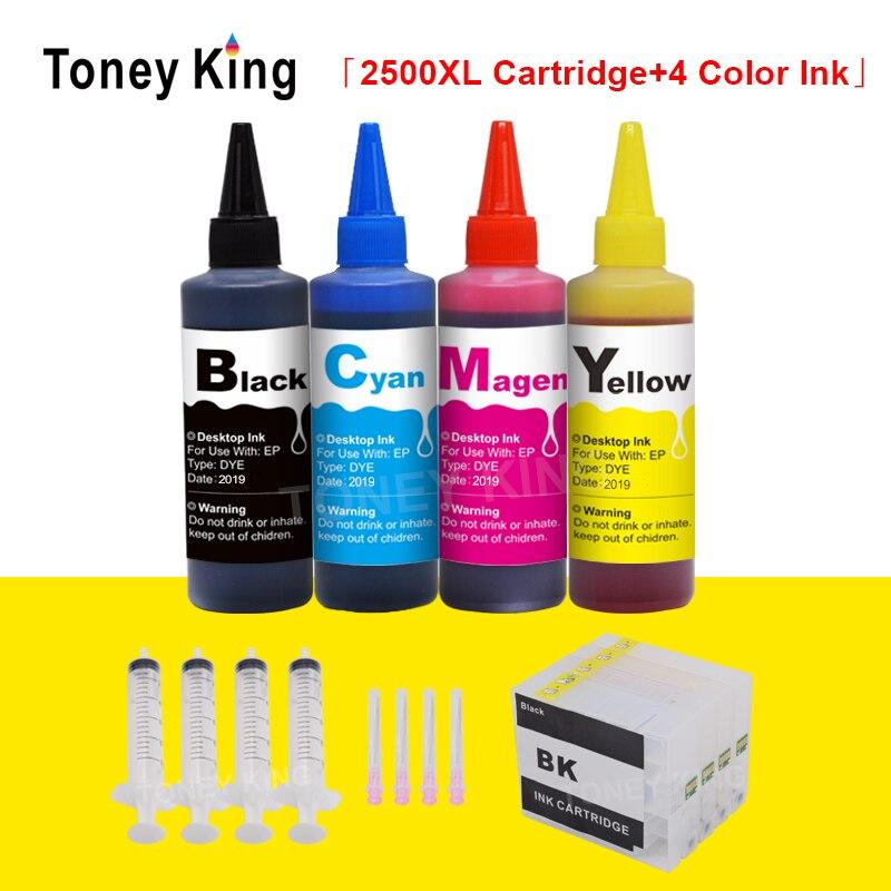 توني الملك عبوة الحبر خرطوشة لكانون PGI-2500 XL + 400 مللي زجاجة الحبر ل PGI 2500 MAXIFY MB5050 MB5150 MB5350 MB5450 طابعة