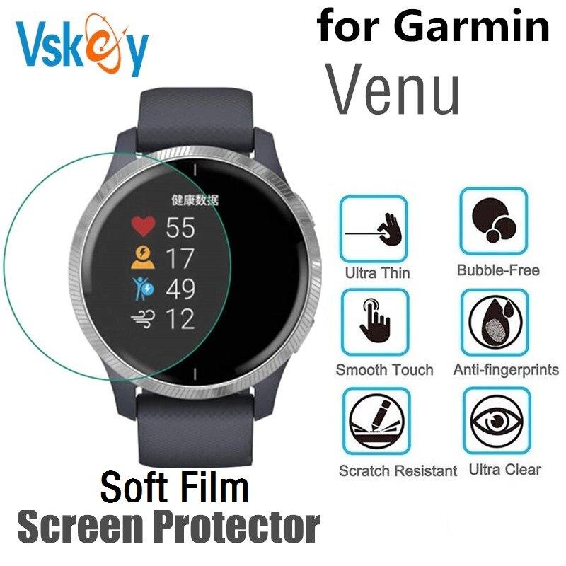 10PCS TPU Soft Film for Garmin Venu Screen Protector Round Sport Smartwatch Protective Film
