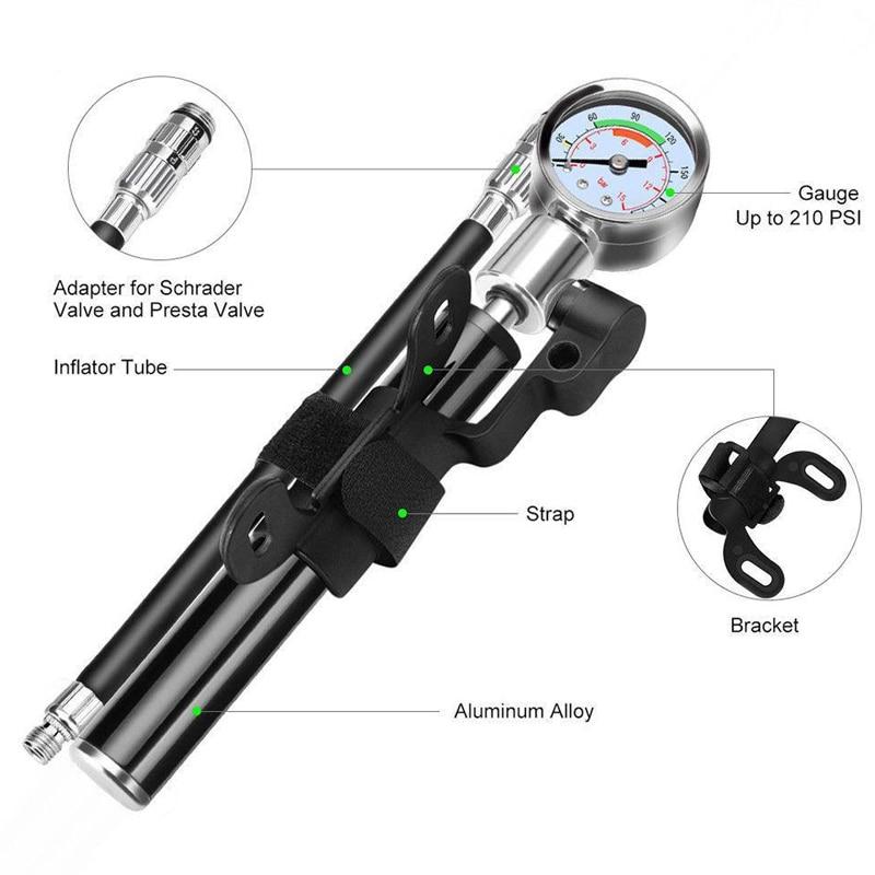Moto portátil Mini bomba de alta presión Inflador de neumáticos para Xiaomi Mijia M365 para patinete xiaomi M187 M365 Pro Kickscooter aleación