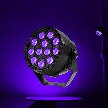 12X3W الأشعة فوق البنفسجية led مصباح موازي المستوى dmx512 8CH led شعاع أضواء المهنية الأشعة فوق البنفسجية اللون شقة الاسمية الحفل قاعة المعدات الإضاءة