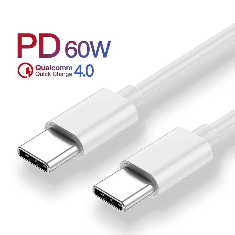 Cable USB tipo C a USB tipo C, cargador rápido USBC PD...