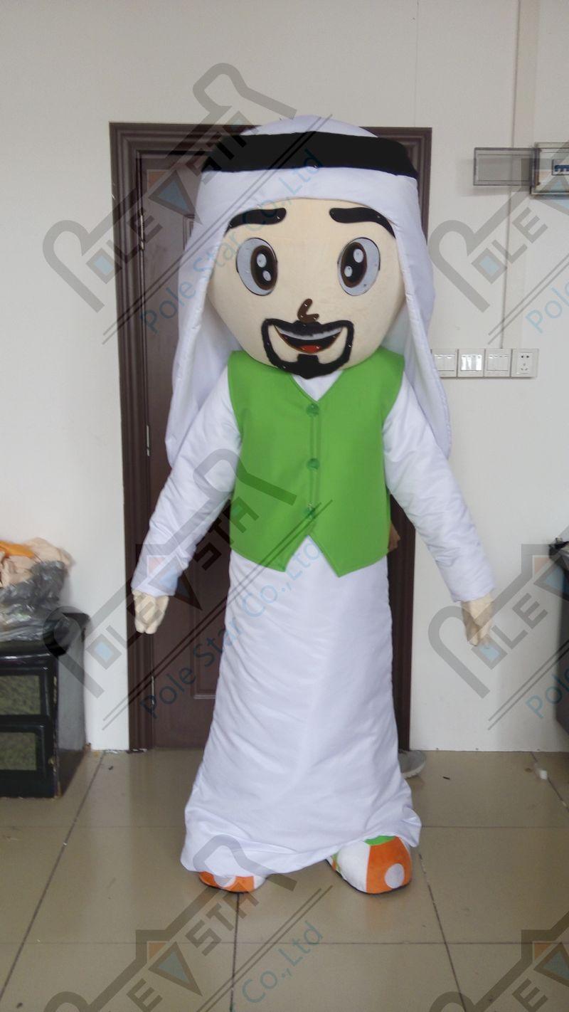 quality arab family mascot  costumes cartoon boy girl man woman mascot design
