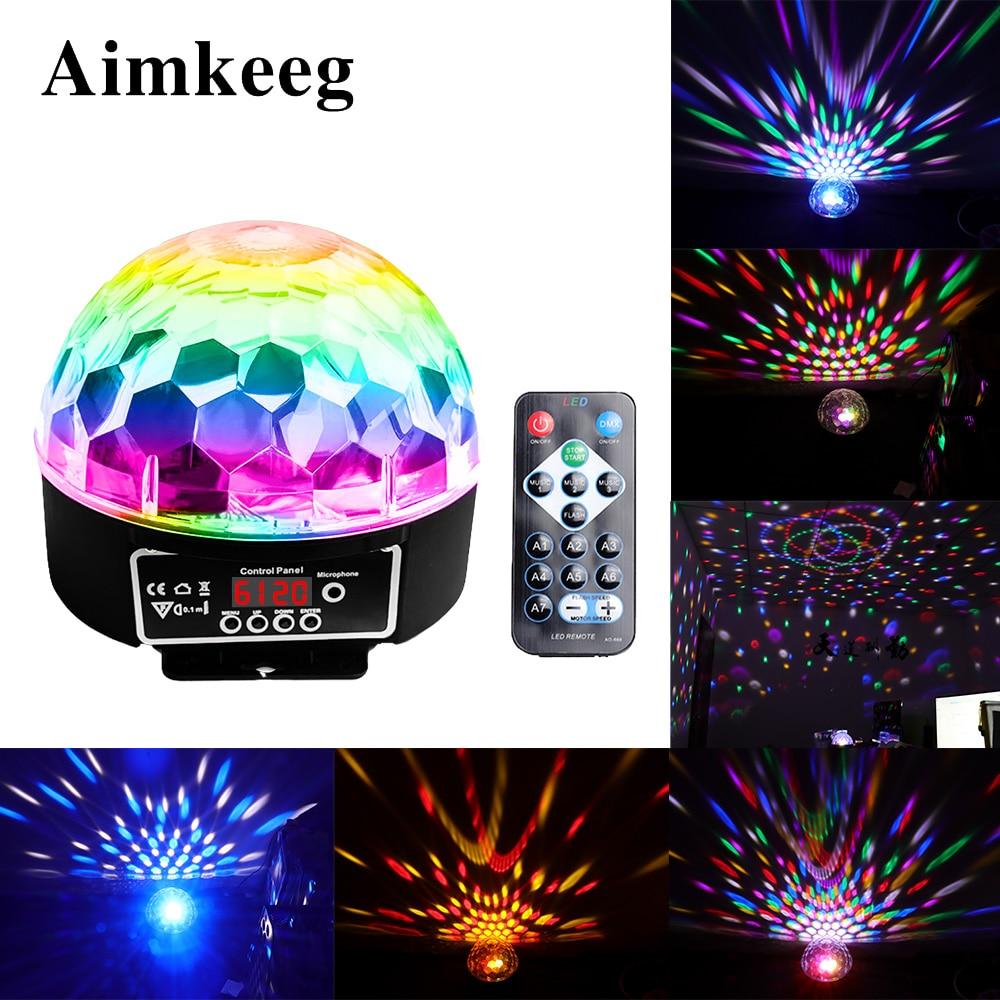 Bola mágica de 9 colores, luz Led con efecto, lámpara de fiesta para escenario, controlador DMX 512, luz Par DJ, luces de escenario activadas por voz, láser Lumiere