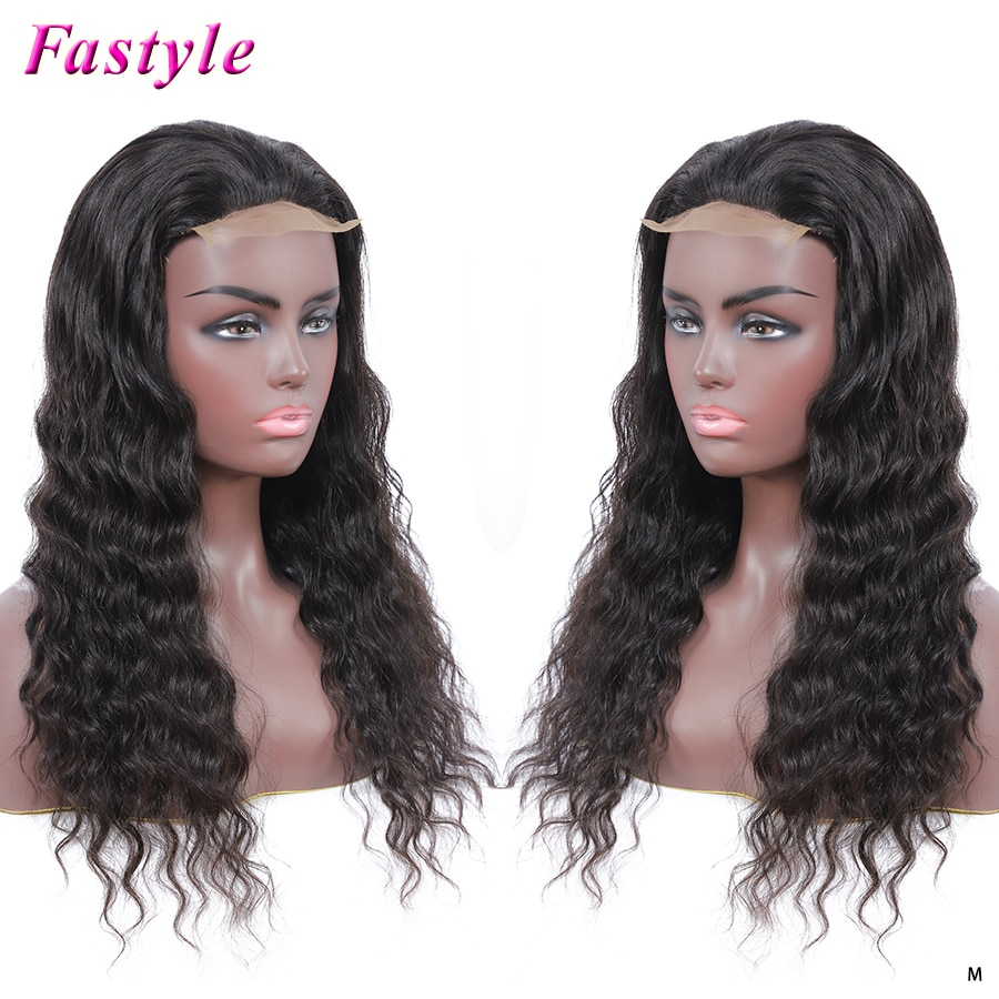 Fastyle Cheap Water Wave Human Hair Wigs for Black Women Best Brazilian Lace Wigs 4x4 Closure Can be Bleached Fast Shipping