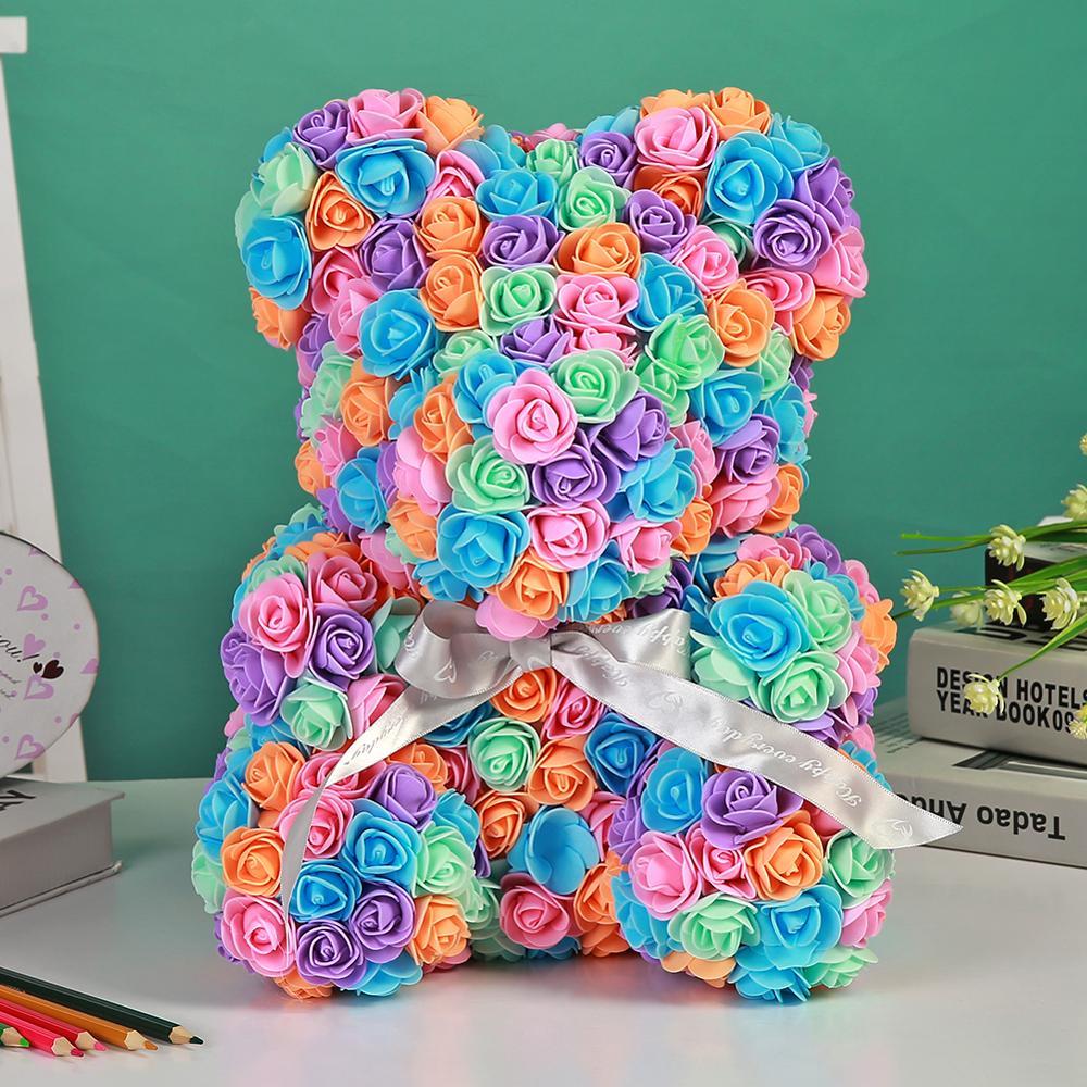 Flores eternas preservadas rosas osos jabón suave flores cumpleaños regalos creativos Festival decoraciones bodas fiestas
