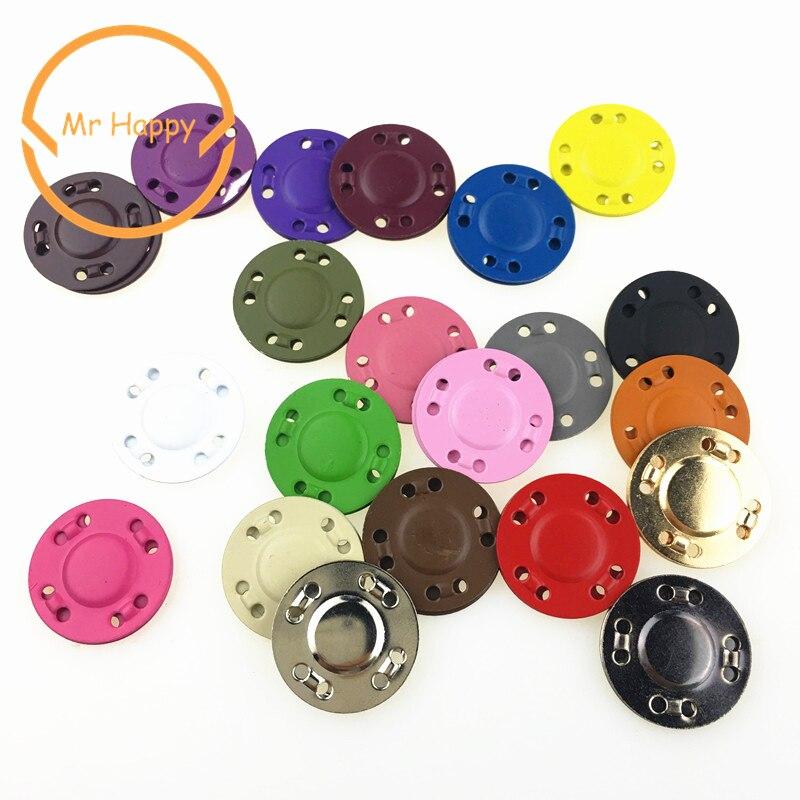 Sac à main en pierre magnétique   Boutons magnétiques colorés en métal caché de 20mm, fournitures de couture, pardessus de bricolage en pierre magnétique, boutons de couture