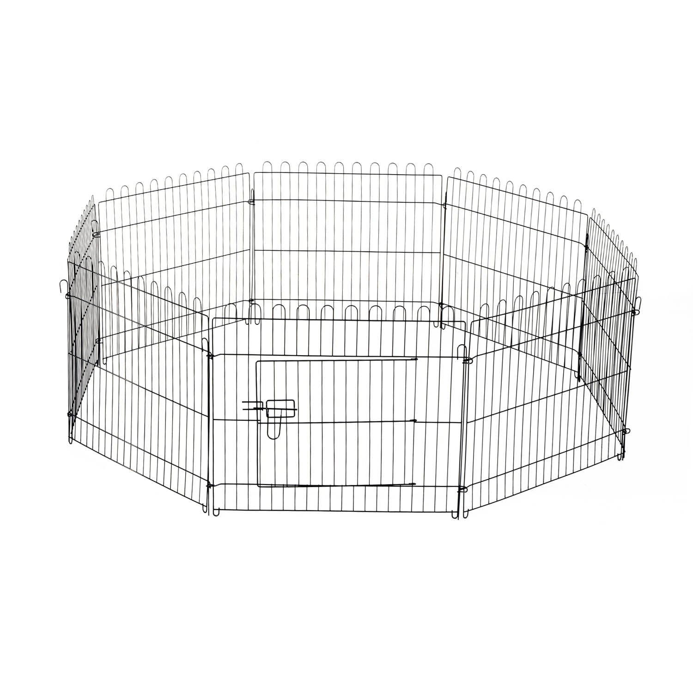 PawHut park dogs cage folding pets near training puppies 8 fences (71x61cm)