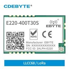 Module sans fil LoRa, E220-400T30S MHz 433MHz, 30dbm, Interface SMD UART, antenne IPEX, 470