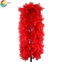 WCFeatherS 200gram Fulffy большой шарф с перьями Красного боа из пера индейки, шаль для свадебной вечеринки, украшения