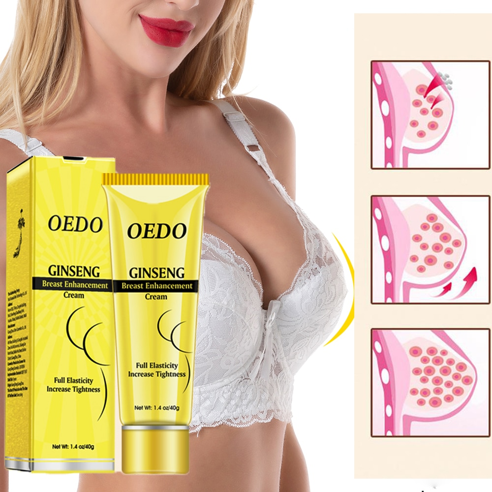 Ginseng Breast Enlargement Cream Chest Enhancement Promote Female Hormone Breast Lift Firming Massage Up Size Bust Care