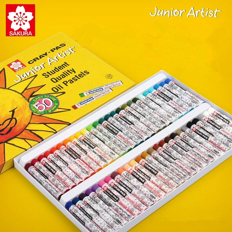 Kit com CRAY-PAS pastéis de óleo para estudantes, cera amarela e seguro, 1 conjunto materiais de arte de cores