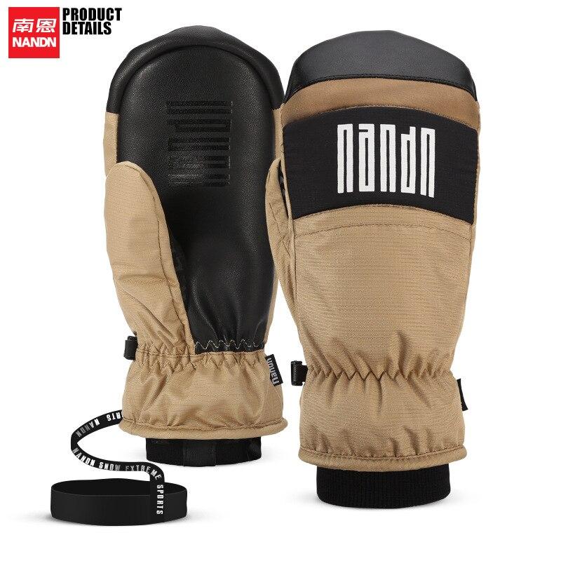 Лыжные перчатки NANDN, водонепроницаемые и ветрозащитные перчатки для сноуборда, уличные спортивные лыжные перчатки для снегохода