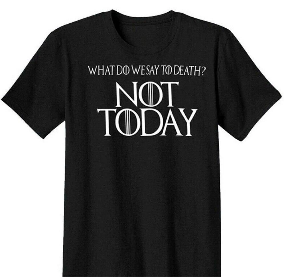 Camiseta negra Unisex del Juego de tronos Arya Stark Not Today, envío gratis, nueva camiseta de hip hop