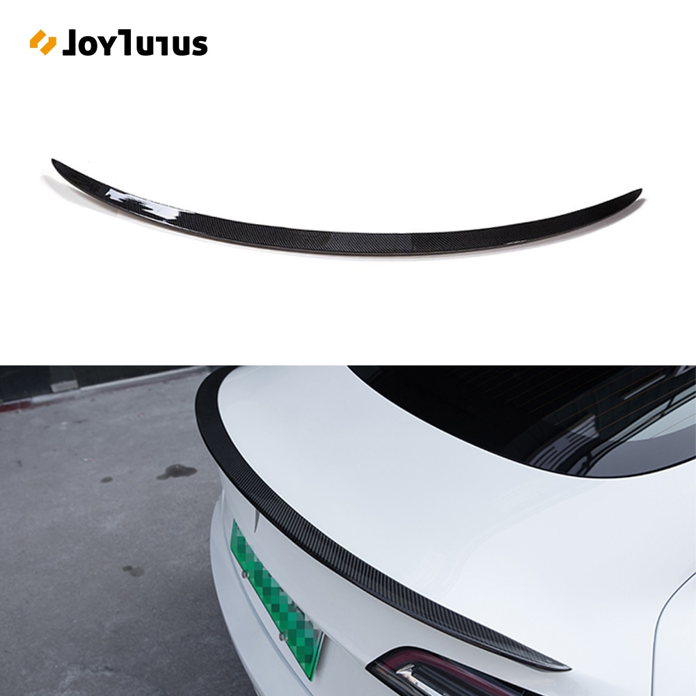 Rear Trunk Spoiler For Tesla Model 3 2017-2019 2020 2021 Rear Trunk Lip Carbon Fiber ABS Wing Spoile