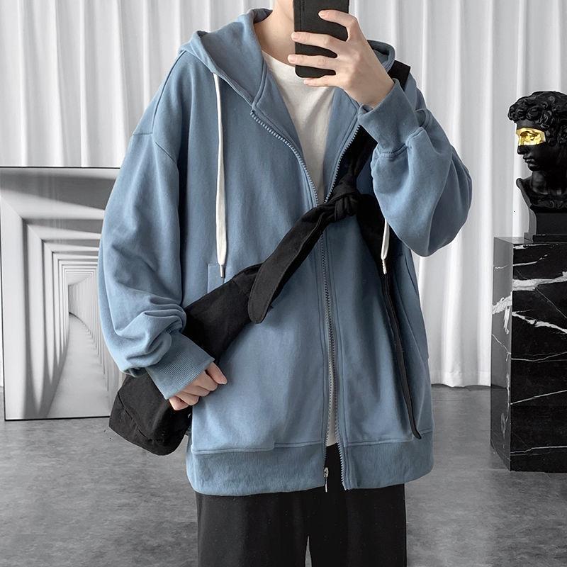 HybSkr بلون الرجال سترات رجالي الهيب هوب رجل المتضخم الرياضة زيبر معاطف 2021 الكورية الشارع الشهير معاطف حجم كبير الملابس