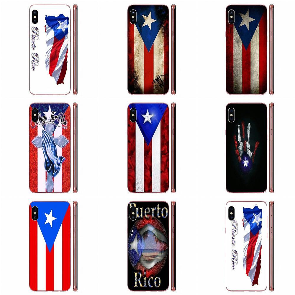 Bandera de Puerto Rico cubierta de la caja del TPU para Samsung...
