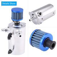 0.5L Oil Catch Tank Universal Aluminum Car Engine Oil Catch Tank Can Reservoir Breather Filter Car-Stying