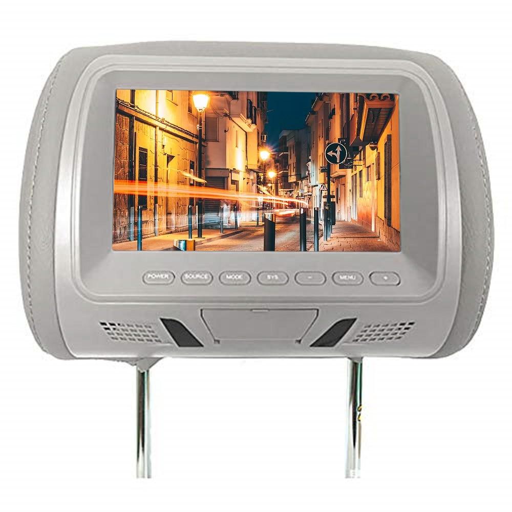 7 inches Automobile Car Headrest Monitor Rear Seat Entertainment Multi-media Player General AV MP4 Universal