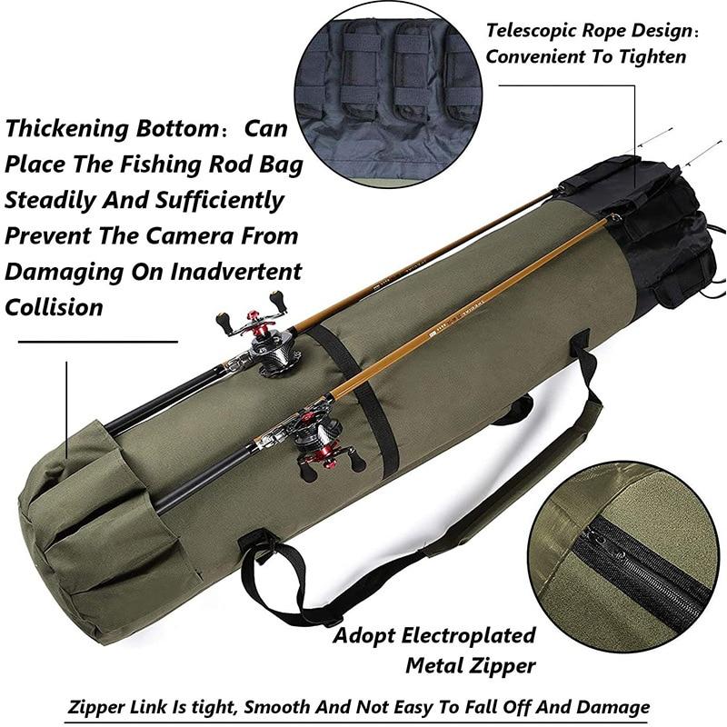 Fishing Rod Bag Large Folding Fishing Backpack Oxford Rods Tool Fishings Equipment Bar Storage Sling Bags enlarge