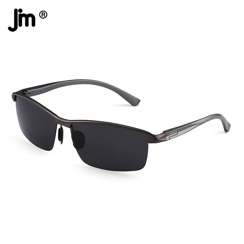 Semi-Rimless Rectangle Polarized Sunglasses for Men 0954
