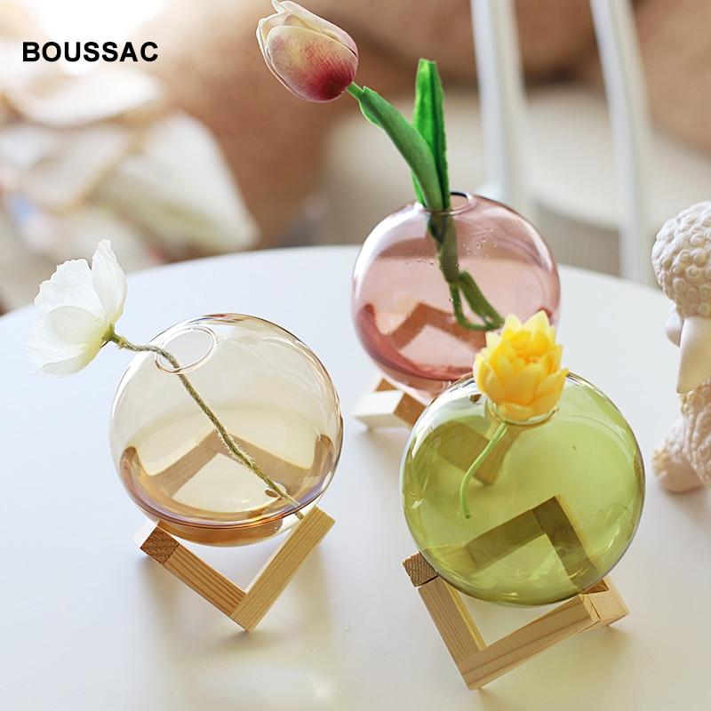 Maceta de vidrio esférico para decoración de hogar y oficina, soporte de...