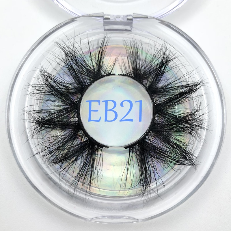 100% Real Mink 25mm Eyelashes Natural Dramatic Volume 3D Mink Fur Eyelashes Extension False Eyelashe