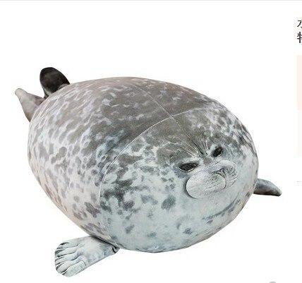80 cm/60 cm/40 cm/30 cm Lion de mer jouets en peluche 3D doux joint en peluche oreillers en peluche oreiller en peluche pour cadeau