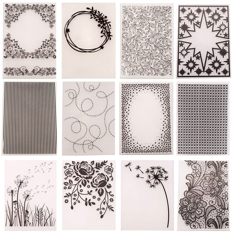 28 Design Plastic Embossing Folder Template for DIY Scrapbooking Craft Photo Album Card Holiday Hand