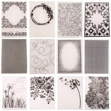 28 Design Plastic Embossing Folder Template for DIY Scrapbooking Craft Photo Album Card Holiday Hand