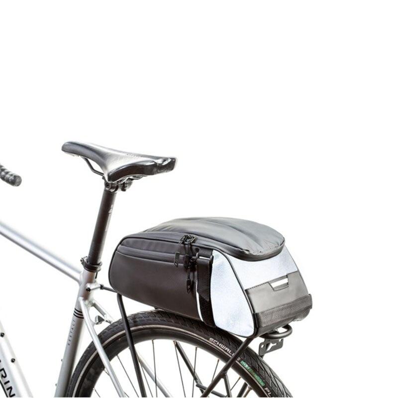 2020 de alta qualidade 8l ciclismo da bicicleta de fibra carbono couro traseiro rack assento pannier saco bolsa traseiro rack saco carga # a