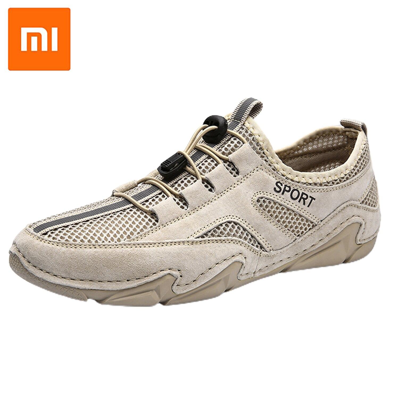 Мужские кожаные кроссовки Xiaomi, брендовые лоферы, дышащая повседневная Уличная обувь, Нескользящие, весна-осень
