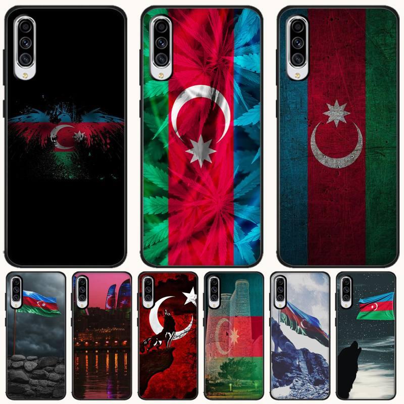 Tao Taoju Azerbaijan buta bandera recién llegado negro teléfono móvil caso para Samsung A10 20 30 40 50 70 10S 20S 2 Core C8 A30S A50S