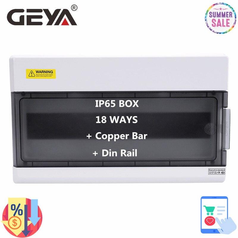 GEYA 18 طريقة صندوق توزيع كهربائي سلك وصلات صناديق ل قطاع دارة مقاوم للماء IP65 الضميمة مع شريط النحاس