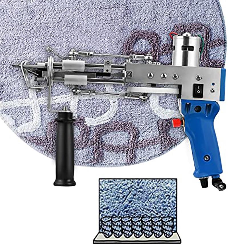 Tufting Gun Electric Carpet Tufting Gun Hand Gun Carpet Weaving Flocking Machines Cut Pile And Loop Pile UK/US/EU Plug