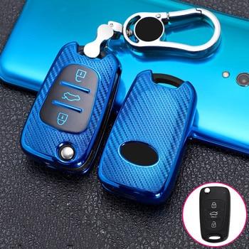 Car key case for kia sportage rio 3 soul optima ceed pro k5 k2 pride for hyundai i20 i30 ix20 ix35 elantra accent shell cover