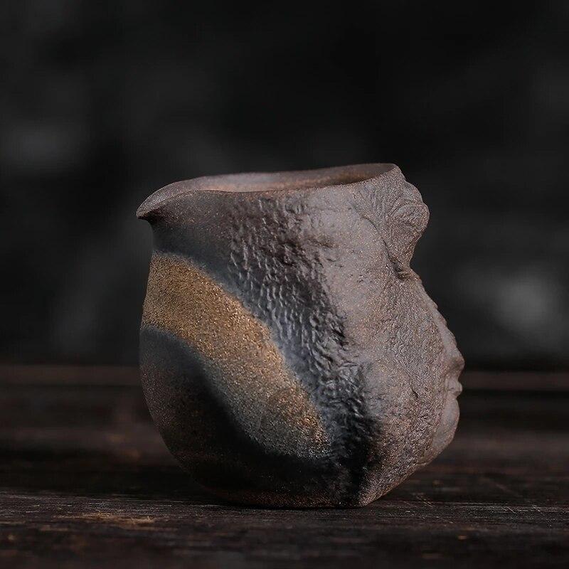 إبريق شاي سيراميك عتيق على الطراز الياباني ، صناعة يدوية ، عتيق ، على الطراز الياباني ، إبريق شاي سيراميك من الكونغ فو