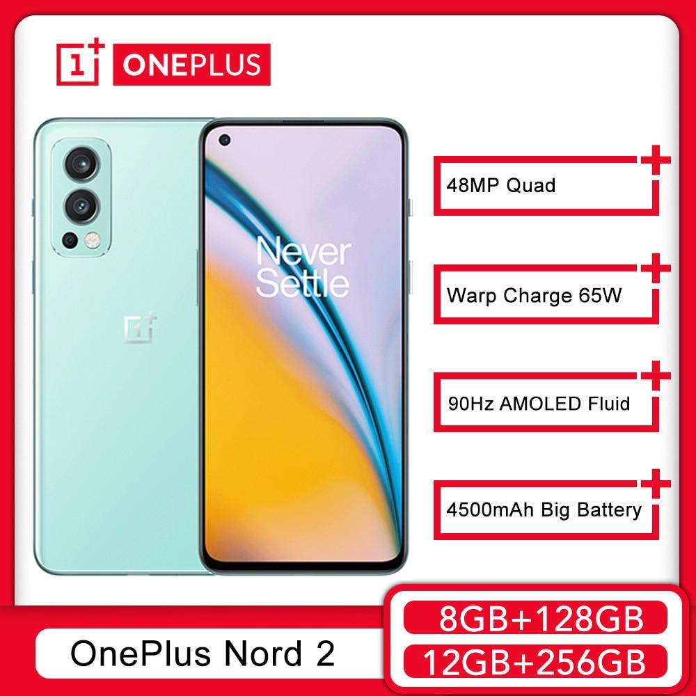 Смартфон глобальная версия OnePlus Nord 2, смартфон MediaTek Dimensity 1200-AI 50MP AI Camera Warp Charge 65W Nord2 5G