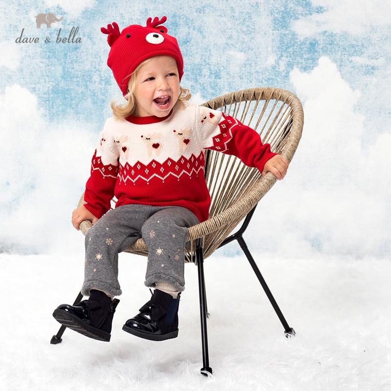 DBJ16004, детский вязаный свитер с изображением Дейва Беллы на зиму|Свитера| | АлиЭкспресс