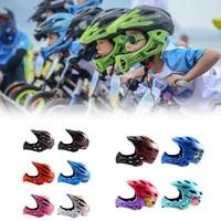 kids bicycle full face helmet mtb bike cycling helmet extreme sports helmet safety riding skateboard rollerblading cycling helme