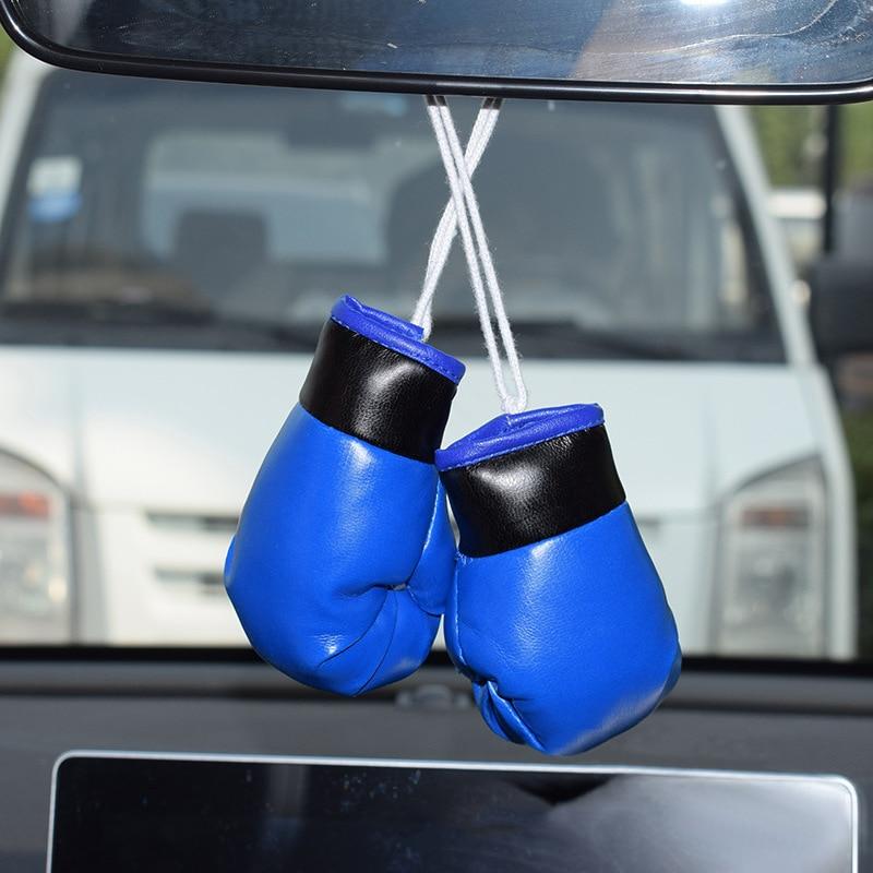 1 par moda luvas de boxe do carro ornamentos pingente pendurado decoração para o carro automóvel decoração interior acessórios presente