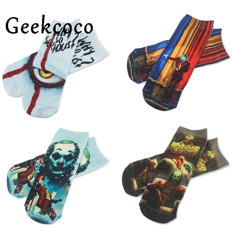 J1205 Fashion Horror Moive Punk Unisex Casual Cotton Short Sock 3D Cartoon Printed Socks
