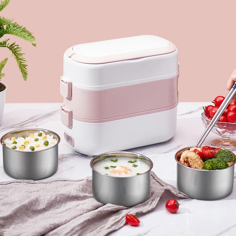 الكهربائية الميكروويف علبة طعام للتسخين الغذاء تخزين الحاويات المحمولة الكهربائية Lubch-صندوق التدفئة العزل الميكروويف بينتو صندوق