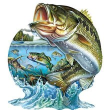 Peinture à diamant 5d bricolage pêche   Autocollant motif autocollant, carré rond, perceuse ronde, poisson animal, bricolage, mosaïque diamant, peinture murale