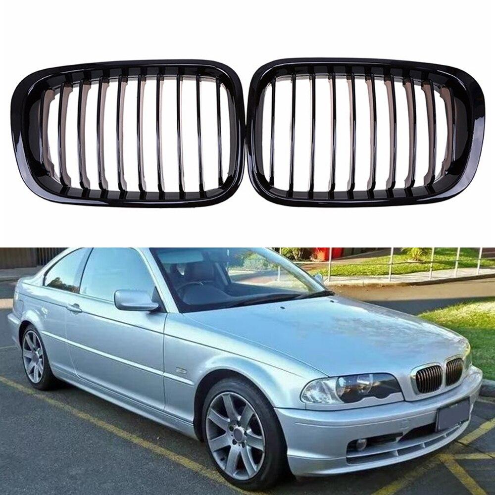 Parrilla de admisión negra mate para coche 2 uds. Para BMW E46 4D 318I 320I 325I 330I 1998-2001 nuevo