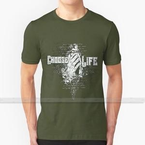 Choose Life Custom Design Print For Men Women Cotton New Cool Tee T shirt Big Size 6xl choose life life freak addicted skull