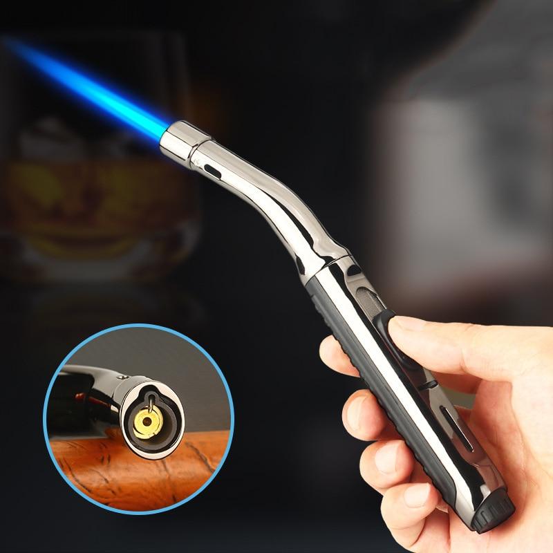 BBQ  Kitchen Cooking Gas Lighter Torch Turbo Cigar Smoking Lighters Metal Cigarette Gadgets for Men