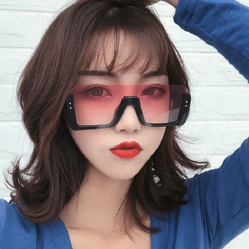Oversize Square Sunglasses Women Fashion Retro Gradient Sun Glasses 2020 Men Blue Big Frame Glasses
