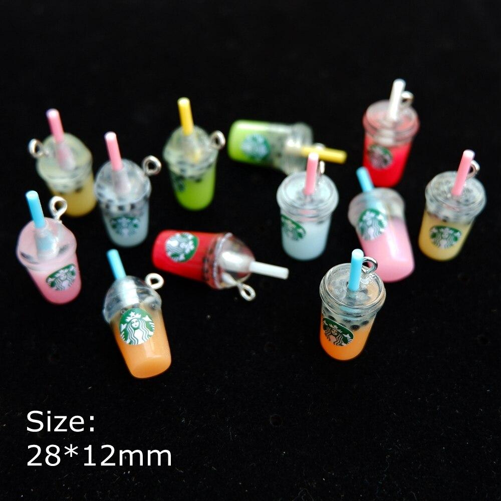 Colgantes de café cabujón de resina para collar pendiente llavero accesorios para hacer joyas