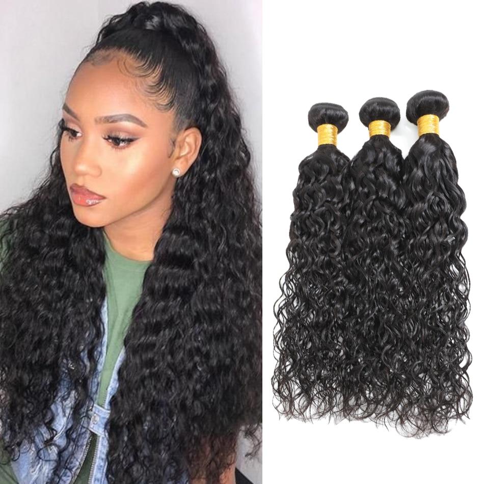 Deepin Hair Water Wave 8-30 Inch Hair Bundles Peruvian Non Remy Human Hair Weave Natural Color Hair