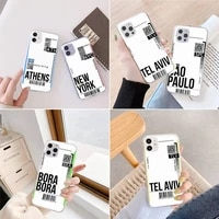 travel world air ticket phone case transparent for iphone 6 7 8 11 12 s mini pro x xs xr max plus